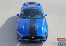 HYPER RALLY | 2019 2018 Ford Mustang Center Matte Black Stripes 3M