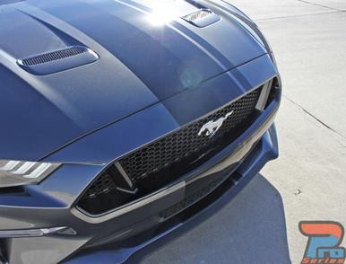 EURO RALLY | 2018 Ford Mustang Center Vinyl Matte Black Stripe 3M
