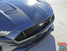 EURO RALLY | 2018 Ford Mustang Center Vinyl Matte Black Stripe 3M