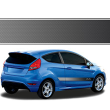 STRIKE : Automotive Vinyl Graphics - Universal Fit Decal Stripes Kit - Pictured with FOUR DOOR CAR (ILL-877)