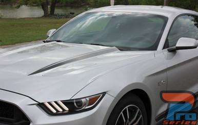 Faded Hood Stripes for Mustangs HOOD SPEARS 2015 2016 2017