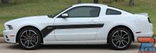 Hood and Side Stripe Decals on Ford Mustang FLIGHT 2013-2014