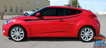 Hyundai Veloster Upper Body Stripe Decals RUSH 3M 2011-2018