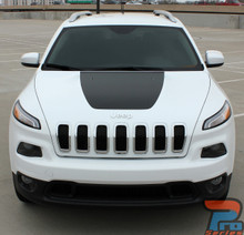 2017 Jeep Cherokee Trailhawk Hood Stripes T-HAWK HOOD 2014-2019