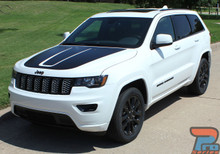 2011-2019 2020 Jeep Grand Cherokee Hood Stripe 3M TRAIL HOOD
