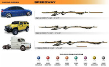 SPEEDWAY Universal Vinyl Graphics Decorative Striping and 3D Decal Kits by Sign Tech Media, Inc. (STM-SW)