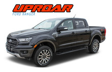 UPROAR : 2019 Ford Ranger Upper Body Door Stripes Decals Vinyl Graphics Kit (VGP-6123)