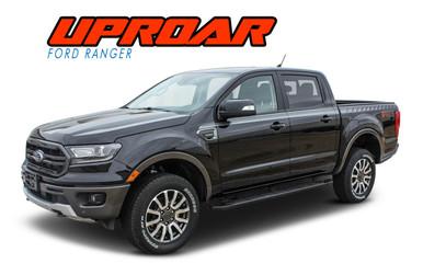 UPROAR : 2019 2020 2021 Ford Ranger Upper Body Door Stripes Decals Vinyl Graphics Kit (VGP-6123)
