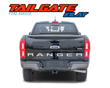 TAILGATE TEXT : 2019 2020 2021 Ford Ranger Tailgate Letters Inlay Decals Stripes Vinyl Graphics Kit (VGP-6129)