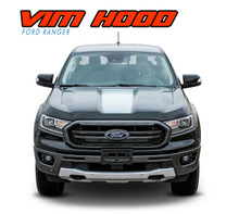 VIM HOOD : 2019 Ford Ranger Center Hood Decals Stripes Vinyl Graphics Kit (VGP-6124)