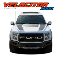 VELOCITOR HOOD : 2018 2019 2020 Ford Raptor Split Hood Decals Stripes Vinyl Graphics Kit (VGP-5719)