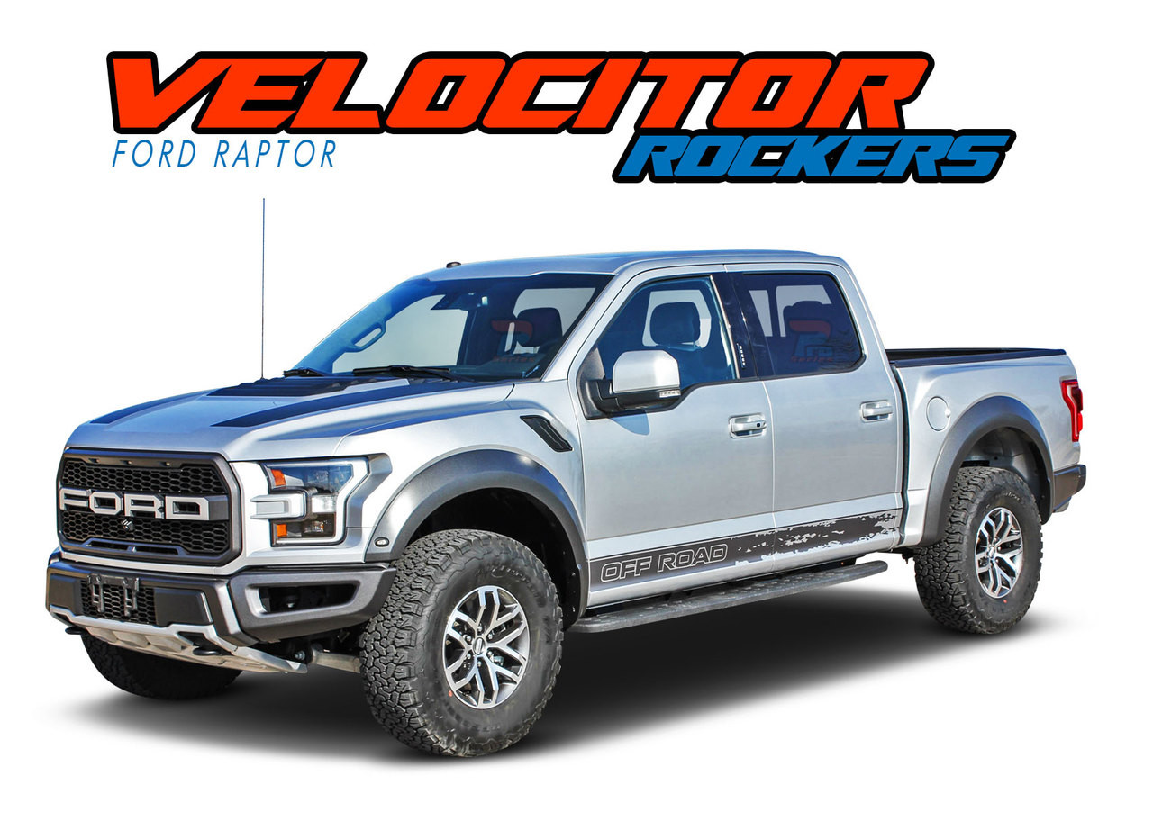 Graphic Truck Bed Side 6 to 8 Year Outdoor Life Set of Two 5 inch by 30 inch Color Lime Green Ford Raptor Decal Sticker
