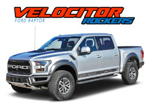 VELOCITOR ROCKER : 2018 2019 Ford Raptor Rocker Panel Stripe Lower Door Decal Vinyl Graphics Kit (VGP-6172)