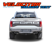VELOCITOR TAILGATE : 2018 2019 Ford Raptor Tailgate Text Letter Decals Vinyl Graphics Kit (VGP-6176)