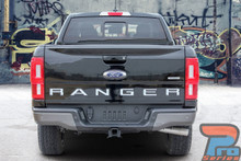 TAILGATE TEXT : 2019 Ford Ranger Tailgate Letters Inlay Decals Stripes Vinyl Graphics Kit (VGP-6129)