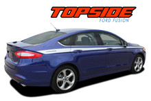 TOPSIDE : 2013 2014 2015 2016 2017 2018 2019 Ford Fusion Upper Door Body Accent Vinyl Graphics Decals Striping Kit (VGP-2265)