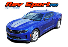 REV SPORT PIN : 2019 2020 2021 Chevy Camaro Hood Racing Stripes and Hood Trunk Spoiler Vinyl Graphics and Decals Kit fits SS RS V6 Models