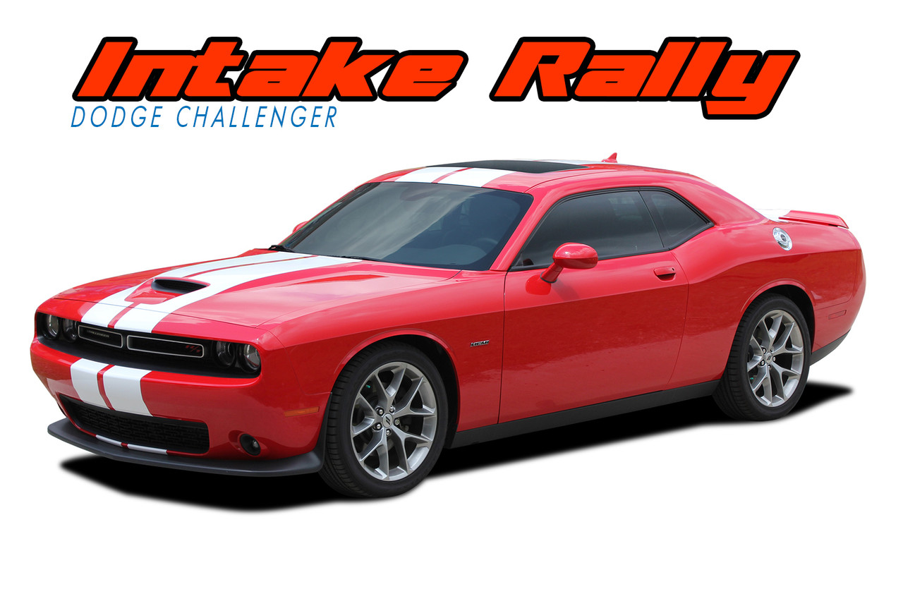 Intake rally 2015 2020 dodge challenger hellcat srt racing stripes vinyl graphic decal kit