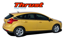 THRUST : 2012 2013 2014 2015 2016 2017 Ford Focus Side Door Body Vinyl Graphics Stripes Decals Kit (VGP-1707)