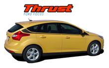THRUST : 2012 2013 2014 2015 2016 2017 Ford Focus Side Door Body Vinyl Graphics Stripes Decals Kit (VGP-1707)