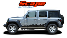 SCAPE : 2018-2020 Jeep Wrangler Side Door Vinyl Graphics Decals Stripes Kit (VGP-6426)