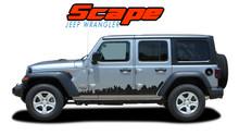 SCAPE : 2018-2020 Jeep Wrangler Side Door Vinyl Graphics Decals Stripes Kit (VGP-6426)