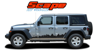 SCAPE : 2018-2020 2021 Jeep Wrangler Side Door Vinyl Graphics Decals Stripes Kit (VGP-6426)