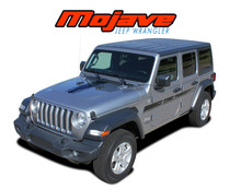 MOJAVE : 2018-2020 Jeep Wrangler Hood Graphic and Side Door Vinyl Decals Stripes Kit (VGP-6423)