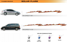 SOLAR FLARE Universal Vinyl Graphics Decorative Striping and 3D Decal Kits by Sign Tech Media, Inc. (STM-SF)