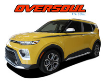 OVERSOUL : 2020 2021 Kia Soul Upper Body Line Accent Vinyl Graphics Decal Stripe Kit (VGP-6491)