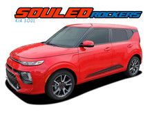 SOUL ROCKER : 2020 2021 Kia Soul Lower Door Body Line Accent Vinyl Graphics Decal Stripe Kit