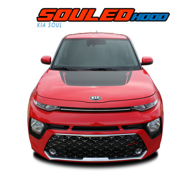 SOUL HOOD : 2020 Kia Soul Hood Decal Blackout Vinyl Graphics Stripe Kit (VGP-6489)