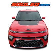 SOUL HOOD : 2020 2021 Kia Soul Hood Decal Blackout Vinyl Graphics Stripe Kit (VGP-6489)