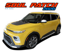 SOUL PATCH 20 : 2020 Kia Soul Hood Decal and Rear Side Vinyl Graphics Stripe Kit (VGP-6488)