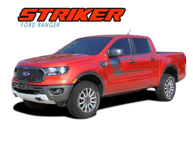 STRIKER : 2019 2020 Ford Ranger Body Decals Door Stripes Vinyl Graphics Kit