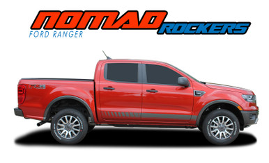 NOMAD ROCKER : 2019 2020 2021 Ford Ranger Rocker Panel Door Stripes Body Vinyl Graphics Decal Kit