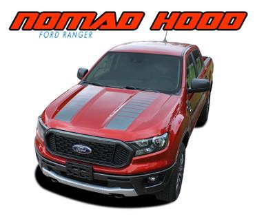 NOMAD HOOD : 2019 2020 Ford Ranger Hood Stripes Decals Vinyl Graphics Kit