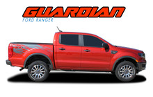 GUARDIAN : 2019 2020 Ford Ranger Bed Stripes Body Vinyl Graphics Decal Kit