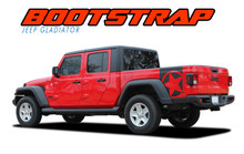BOOTSTRAP : 2020 2021 Jeep Gladiator Side Body Star Vinyl Graphics Decal Stripe Kit