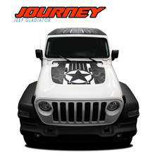 JOURNEY : 2020 Jeep Gladiator Hood Vinyl Graphics Decal Stripe Kit - Note : DIGITAL PRINT DESIGN Shown