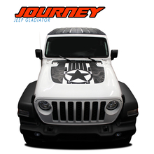 JOURNEY : 2020 2021 Jeep Gladiator Hood Vinyl Graphics Decal Stripe Kit - Note : DIGITAL PRINT DESIGN Shown