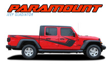 PARAMOUNT SOLID : 2020 2021 Jeep Gladiator Side Body Vinyl Graphics Decal Stripe Kit