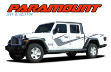 PARAMOUNT DIGITAL PRINT : 2020 2021 Jeep Gladiator Side Body Vinyl Graphics Decal Stripe Kit