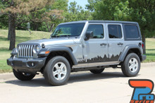 Side of 2018 Jeep Wrangler Side Decals SCAPE SIDE KIT 2019 2020 2021