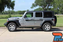 Side of 2018 Jeep Wrangler Graphics BYPASS SIDE KIT 2019 2020 2021