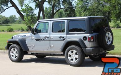 Side of 2019 Jeep Wrangler Stripes BYPASS SIDE KIT 2018-2020 2021