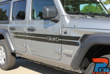 Side of 2018 Jeep Wrangler Stripes HAVOC SIDE KIT 2019 2020 2021