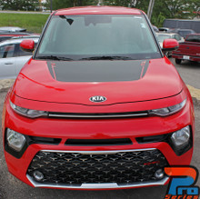 Hood view of 2020 Kia Soul Hood Graphics SOULED HOOD