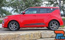 Side of 2020 Kia Soul Side Stripes SOULED ROCKER