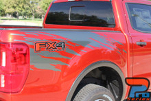 Close up of Ford Ranger Bed Side Stripes GUARDIAN 2019-2020